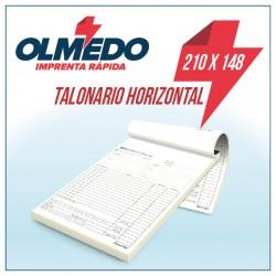Talonario Autocopiativo A5 Horizontal Original y Copia